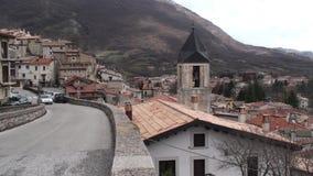 Μικρή πόλη Barrea Villetta στην επαρχία του l'Aquila, Abruzzo Ιταλία απόθεμα βίντεο