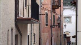 Μικρή πόλη Castrovalva στην επαρχία του l'Aquila, Abruzzo Ιταλία απόθεμα βίντεο