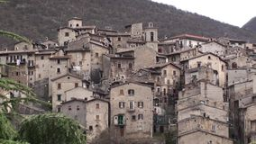 Μικρή πόλη Scanno στην επαρχία του l'Aquila, Abruzzo Ιταλία φιλμ μικρού μήκους