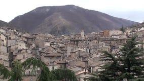 Μικρή πόλη Scanno στην επαρχία του l'Aquila, Abruzzo Ιταλία απόθεμα βίντεο