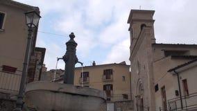 Μικρή πόλη Villalago στην επαρχία του l'Aquila, Abruzzo Ιταλία φιλμ μικρού μήκους