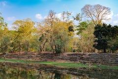 Μικρή τεχνητή λίμνη σε Angkor σύνθετο, Καμπότζη Στοκ Φωτογραφίες