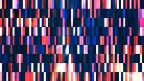 Μικροί φραγμοί υψηλής τεχνολογίας ραδιοφωνικής μετάδοσης αστράφτοντας, πολυ χρώμα, περίληψη, Loopable, 4K απόθεμα βίντεο