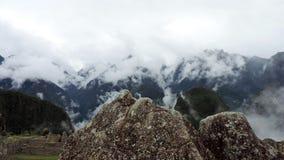 Μικρογραφία βουνών Picchu Machu στην πέτρα στοκ εικόνες
