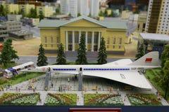 Μικρογραφία, μικροσκοπική της Ρωσίας Υπερηχητικά αεροσκάφη Στοκ Φωτογραφία