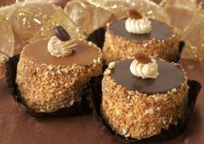 μικρογραφία σοκολάτας κέικ Στοκ Φωτογραφίες