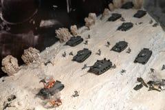 μικρογραφία της μάχης του Δεύτερου Παγκόσμιου Πολέμου στοκ εικόνες