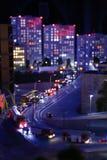 Μικρογραφία της Ρωσίας μποτιλιαρίσματα στη μητρόπολη, στη μεγάλη πόλη της Ρωσίας στη Μόσχα, Άγιος Πετρούπολη στοκ φωτογραφία