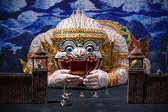 Μικρογραφία του σκηνικού συνόλου Khon Στοκ φωτογραφία με δικαίωμα ελεύθερης χρήσης