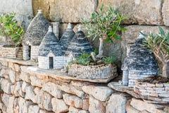 Μικρογραφία του trulli σε Alberobello Στοκ Φωτογραφία