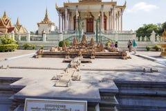 Μικρογραφία Wat Angkor, Royal Palace Καμπότζη, Πνομ Πενχ, Καμπότζη Στοκ Εικόνες