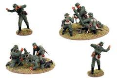 Μικρογραφίες WWII, γερμανικοί στρατιώτες πολεμικών παιχνιδιών Στοκ Εικόνες
