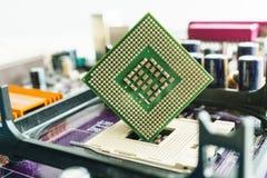 Μικροεπεξεργαστής του υπολογιστή εν πλω στοκ εικόνες