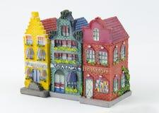 Μικροσκοπικά ολλανδικά σπίτια καναλιών Στοκ φωτογραφία με δικαίωμα ελεύθερης χρήσης