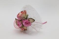 Μικροσκοπικά ρόδινα τριαντάφυλλα που απομονώνονται στο λευκό στοκ φωτογραφία με δικαίωμα ελεύθερης χρήσης