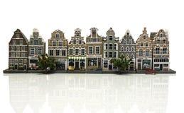Μικροσκοπικά σπίτια όπως στο παλαιό Άμστερνταμ Στοκ Εικόνες
