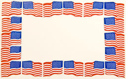 Μικροσκοπικά σύνορα σημαιών στοκ φωτογραφία με δικαίωμα ελεύθερης χρήσης