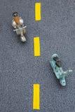 Μικροσκοπικές μοτοσικλέτες μηχανικών δίκυκλων Στοκ φωτογραφίες με δικαίωμα ελεύθερης χρήσης