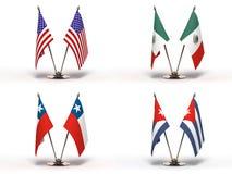 Μικροσκοπικές σημαίες () Στοκ Εικόνες