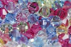 Μικροσκοπικές χάντρες γυαλιού Στοκ Φωτογραφία