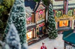 Μικροσκοπικής χρονικής επιχείρησης Χριστουγέννων ειδωλίων στοκ εικόνα