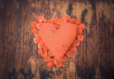 Μικροσκοπική βλαμμένη καρδιά στοκ φωτογραφίες