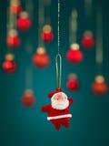 Μικροσκοπική διακόσμηση Χριστουγέννων santa Στοκ φωτογραφία με δικαίωμα ελεύθερης χρήσης