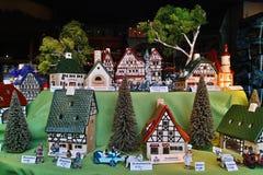 Μικροσκοπική επίδειξη του χωριού παραθύρων Leyk Στοκ εικόνα με δικαίωμα ελεύθερης χρήσης