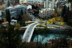 Μικροσκοπική πόλη Στοκ Φωτογραφία