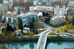 Μικροσκοπική πόλη Στοκ εικόνα με δικαίωμα ελεύθερης χρήσης