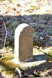 Μικροσκοπική ταφόπετρα Στοκ Φωτογραφία