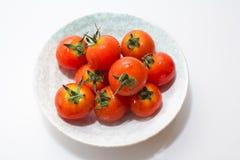 Μικροσκοπική φρέσκια ντομάτα Στοκ Εικόνες