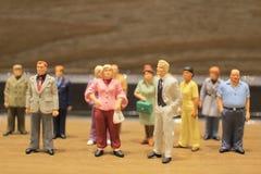 Μικροσκοπικοί άνθρωποι, αριθμός Στοκ Εικόνες