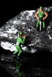 Μικροσκοπικοί ανθρακωρύχοι άνθρακα Στοκ Φωτογραφία