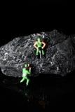 Μικροσκοπικοί ανθρακωρύχοι άνθρακα Στοκ Εικόνες