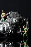 Μικροσκοπικοί ανθρακωρύχοι άνθρακα Στοκ φωτογραφία με δικαίωμα ελεύθερης χρήσης