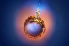 Μικροσκοπικός γήινος πλανήτης με τα πολύ σημαντικά κτήρια και την έλξη της Ιστανμπούλ Στοκ φωτογραφία με δικαίωμα ελεύθερης χρήσης