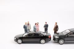 Μικροσκοπικός επιχειρησιακός αριθμός και αυτοκίνητο παιχνιδιών Στοκ Εικόνα