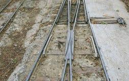 Μικροσκοπικός σιδηρόδρομος στο πάρκο Στοκ εικόνες με δικαίωμα ελεύθερης χρήσης