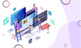 Μικροσκοπικός υπεύθυνος για την ανάπτυξη Ιστού που διατηρεί τον ιστοχώρο ή τον αναλυτή analy διανυσματική απεικόνιση