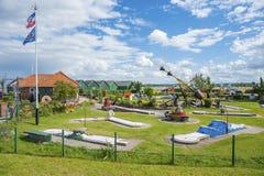 Μικροσκοπικό γήπεδο του γκολφ σε Hohwacht στοκ εικόνες