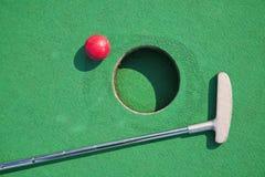 Μικροσκοπικό γκολφ στοκ εικόνες