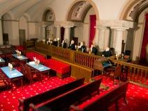 Μικροσκοπικό πρότυπο δικαστήριο στοκ φωτογραφία