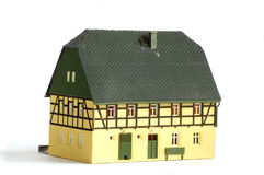 Μικροσκοπικό πρότυπο παιχνίδι σπιτιών Στοκ Φωτογραφία