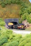 Μικροσκοπικό τραίνο σιδηροδρόμου στοκ φωτογραφία με δικαίωμα ελεύθερης χρήσης