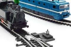 μικροσκοπικό τραίνο στα&theta Στοκ φωτογραφία με δικαίωμα ελεύθερης χρήσης