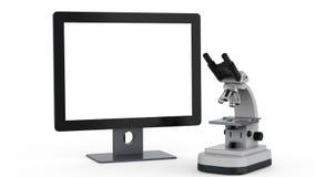 Μικροσκόπιο με το όργανο ελέγχου ελεύθερη απεικόνιση δικαιώματος