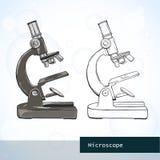 μικροσκόπιο οπτικό Διανυσματική απεικόνιση