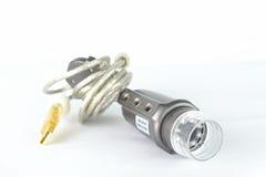 Μικροσκόπιο USB με τις θαμπάδες στοκ φωτογραφία με δικαίωμα ελεύθερης χρήσης
