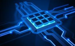 μικροϋπολογιστής τσιπ διανυσματική απεικόνιση